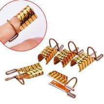Biutee 5pcs/set  Reusable Dual Silver /Gold Nail Form For Nail Art Makin... - $8.97