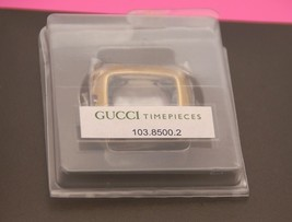 NIB Gucci Replacement Case Set 8500 L Gold Tone- Case, Back, Insert and Crystal - $99.95
