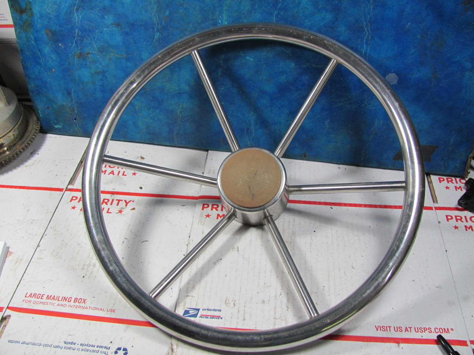 Boat Steering Wheel Stainless Spokes Square And 50 Similar Items