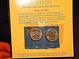 Two Uncirculated Nevada State Quarters AA19-CNQ6032 image 2