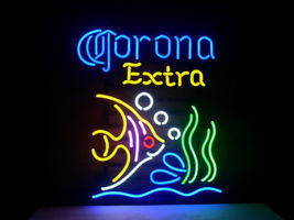 Fish Corona Extra Neon Sign Handcrafted Real Glass Tubes Neon Light Sign - $124.95+