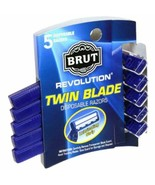 Brut Revolution Twin Blade Disposable Razors, with lubricating Strip - 5... - $7.52