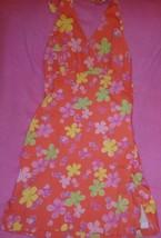 Lilly Pulitzer Garnichuri Girls Orange Floral Dress - $40.46