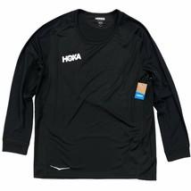 HOKA ONE ONE Men's Performance 3/4 Sleeve Running Shirt T-Shirt Small Black - $54.99