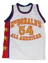 Kwame Brown #54 McDonald's All American New Men Basketball Jersey White Any Size image 3