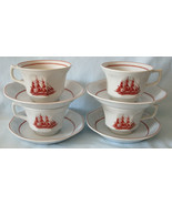 Wedgwood Georgetown Collection Flying Cloud Cup & Saucer, Set of 4  - $39.49
