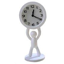 Nostalgia Noiseless Alarm Clock Kids' Birthday Gift Student Clock White - $20.83