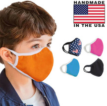 Kids Washable Face Cover Outdoor Protection Toddler Reusable Mask Made in USA image 1