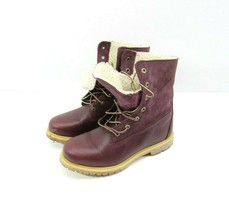 Timberland 8311A Teddy Fold Down Boots Waterproof Winter Women 8.5 Burgandy  - $59.35
