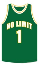 Master P #1 No Limit Basketball Jersey Sewn Green Any Size image 3