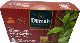 DILMAH CEYLON GREEN TEA BAGS WITH CEYLON CINNAMON Weight loss fat burn - $7.88