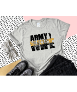 Army Wife Graphic T-Shirt Top Tee Military Clothing Black Green Handmade... - $22.99