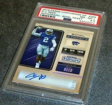 2018 Panini Contenders D. J. Reed Rookie Auto Bowl Ticket PSA 8.5 - $175.00