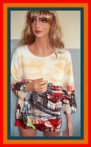 XL R$60 Elizabeth New York Scenic Print Pullover Top Shirt Tunic T-shirt... - $19.99