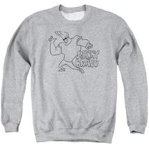 Johnny Bravo - Jb Line Art Adult Crewneck Sweatshirt Officially Licensed... - $27.99+