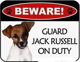 Beware Jack Russell On Duty Laminated Dog Sign SP3116 - $8.86