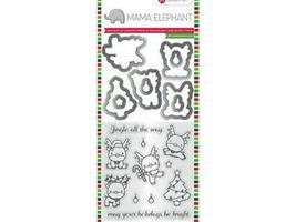 Mama Elephant Reindeer Stamp and Die Set #SC0801
