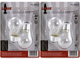 "4 Pack Lava Brand 40 Watt Replacement Bulbs for 16.3"" and 17""/52oz & 32oz lamps - $15.95"