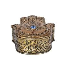 Pacific Giftware Hamsa Golden Box Home Decor - $23.99