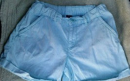 EUC Gap Kids Light Blue Cuffed Shorts Size 8P 8 Plus - $2.99