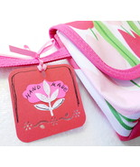 4 Pk Tags For Handmade Products Red Pink Merchandise Hang Tags - £2.67 GBP