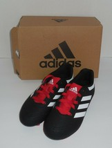 Adidas Goletto VI FG J Boys 12 Youth Soccer Cleats Black Red White G26367 New - $23.75