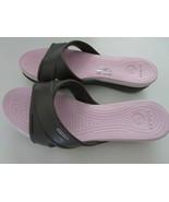 CROCS Womens Crocband Wedge Sandals Slides Size 11 W Standard Fit Black ... - $29.95
