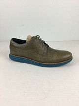 Cole Haan Men Lunargrand Wingtip Derby Shoes 10 Dark Gull Grey Seaport Blue Sole - $128.69