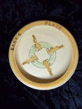 Roseville Juvenile Antique Vtg Baby Dish Plate Rabbit 1 - $134.99