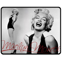 "Marilyn Monroe Photo Fleece Blanket 50""X60"" (Medium) - $45.00"