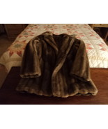 Vintage Tissavel of France Brown Faux Fur Jacket Sz Medium - $250.00