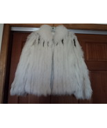 Vintage Safa White With Brown Tipe Fox Fur Jacket Medium - $450.00