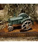 Vintage Cast Iron Green Farm Case Tractor Spike Wheels  - $29.95
