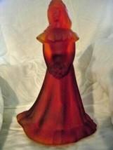 Fenton Art Glass Satin Ruby Blank Bridesmaid Doll Figurine - $93.49