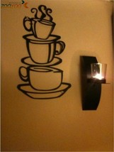 ZOOYOO® Removable DIY Kitchen Decor Coffee House Shop Cup Decals 8109. V... - $4.82