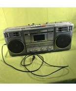 JVC RC-770 JW Boom Box Stereo Cassette Radio For Parts Or Repair - $39.59