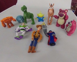 Disney Pixars Toy Story Figure Lot 10 Figures Woody Buzz Zurg Lots o Chunk - $15.99