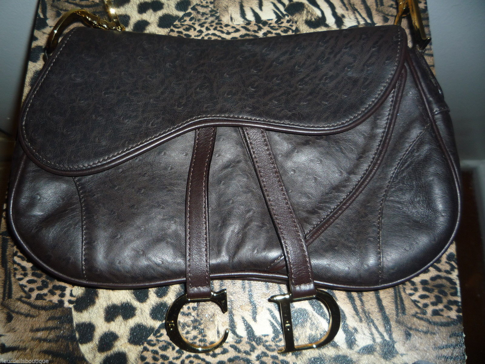 9652b5eb7c04 Authentic Christian Dior Ostrich Saddle Bag and 50 similar items. 57