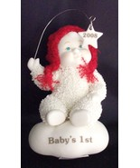 Department 56 Snowbabies Baby's First Christmas 2008 Ornamen - $7.99