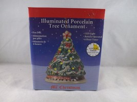 Mr. Christmas Illuminated Porcelain Ornament - New - Christmas Tree - $16.14