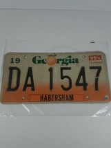 Georgia License Plate Peach Orange Under 1995 DA1547 Car Tag Habersham - $19.79