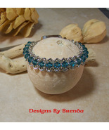 Chain Maille Crystal Bracelet & Dichroic Clasp - $185.00