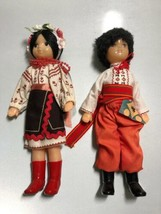 Vintage Set Boy & Girl UKRAINE Dolls Russian Russia Ukrainian Costumes T... - $51.00