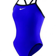 Nike Core Solids Lingerie Tank Blue Swimsuit Size 38 WMS12 - $55.10