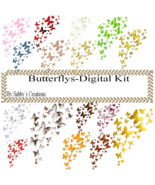 Butterflys Digital Kit 2-Art Clip-Gift Tag-Jewelry-T shirt-Notebook-Scra... - $1.99