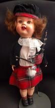 "Antique vintage Roddy 12"" Doll England Scottish bagpiper walker celluloid - $14.84"