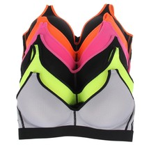Women's Romabra Gym Activewear Support Sports Bra Miulti Color 6 Pack 90017 40B