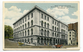 Post Office Richmond Virginia 1916 postcard - $5.89