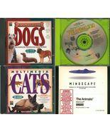 Lot 4 MULTIMEDIA CATS DOGS Animals Win/Mac Clas... - $2.99