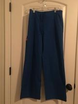 Dickies Women's Uniform Scrub Pants Bottoms Sz S Royal Blue Clothes - $36.43